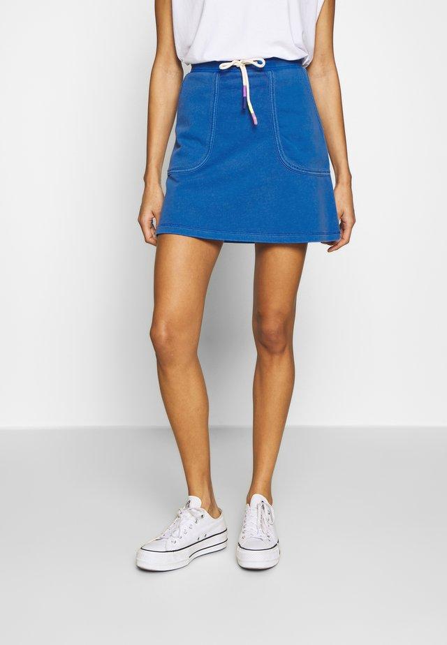 WASH SKIRT - Minifalda - bright blue
