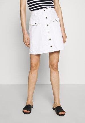 MINI - Áčková sukně - white