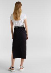 edc by Esprit - TUBE SKIRT - Pencil skirt - black - 2