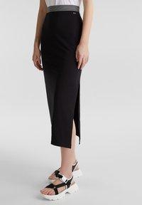 edc by Esprit - TUBE SKIRT - Pencil skirt - black - 0