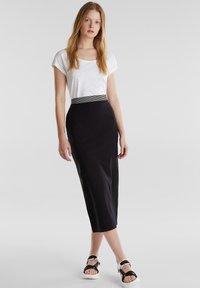 edc by Esprit - TUBE SKIRT - Pencil skirt - black - 1