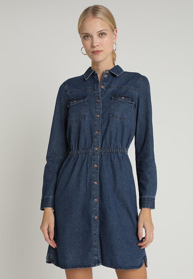 edc by Esprit - DRESS  - Jeanskjole / cowboykjoler - blue dark wash