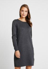 edc by Esprit - Strikket kjole - dark grey - 0