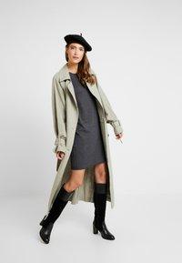 edc by Esprit - Strikket kjole - dark grey - 1