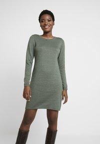 edc by Esprit - Strikket kjole - khaki green - 0