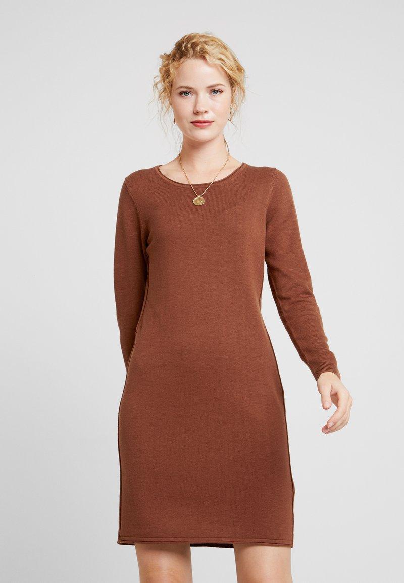 edc by Esprit - Pletené šaty - rust brown