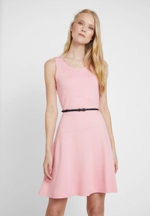 DRESS SOLID - Jerseykjoler - pink