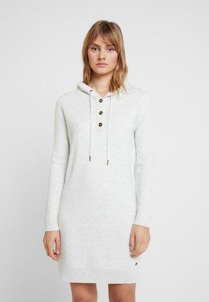HOOD DRESS - Robe pull - pastel grey