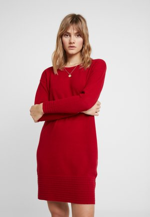 DRESS - Robe pull - red