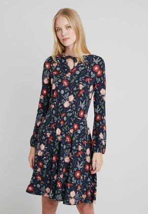 PRINTED DRESS - Jeanskleid - navy