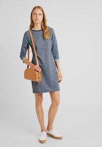 edc by Esprit - DOUBLEFACE DRES - Strikket kjole - navy - 1