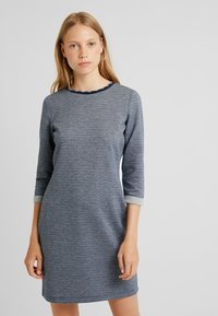 edc by Esprit - DOUBLEFACE DRES - Strikket kjole - navy - 0