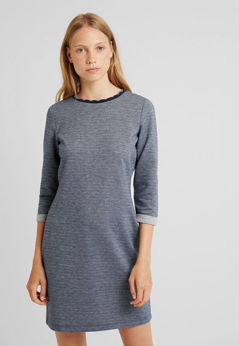 edc by Esprit - DOUBLEFACE DRES - Strikket kjole - navy