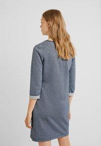 edc by Esprit - DOUBLEFACE DRES - Strikket kjole - navy - 2