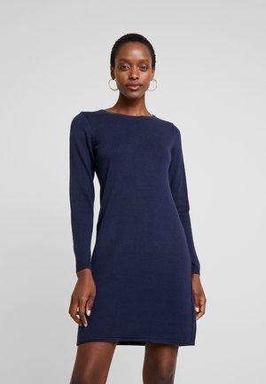 DRESS - Stickad klänning - navy