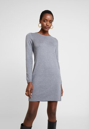 DRESS - Strikket kjole - gunmetal