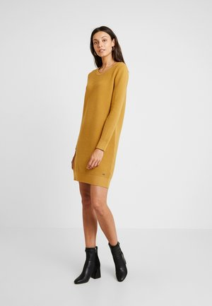 Gebreide jurk - amber yellow