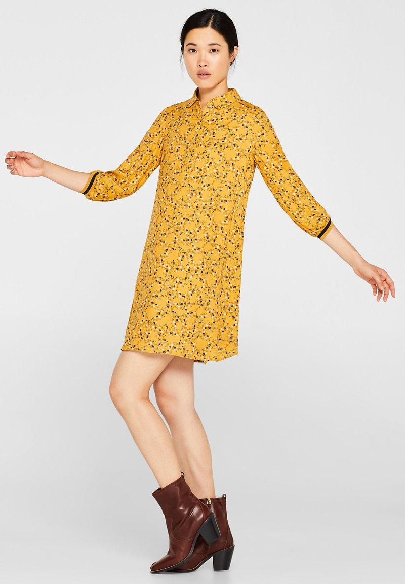 edc by Esprit - Blusenkleid - honey yellow