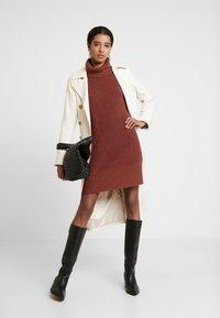 edc by Esprit - STRUCTURED - Jumper dress - terracotta - 2