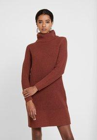 edc by Esprit - STRUCTURED - Jumper dress - terracotta - 0