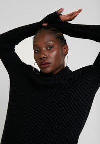 edc by Esprit - STRUCTURED - Strikket kjole - black - 4