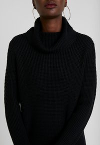 edc by Esprit - STRUCTURED - Strikket kjole - black - 6