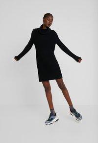 edc by Esprit - STRUCTURED - Strikket kjole - black - 2