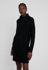edc by Esprit - STRUCTURED - Strikket kjole - black - 0