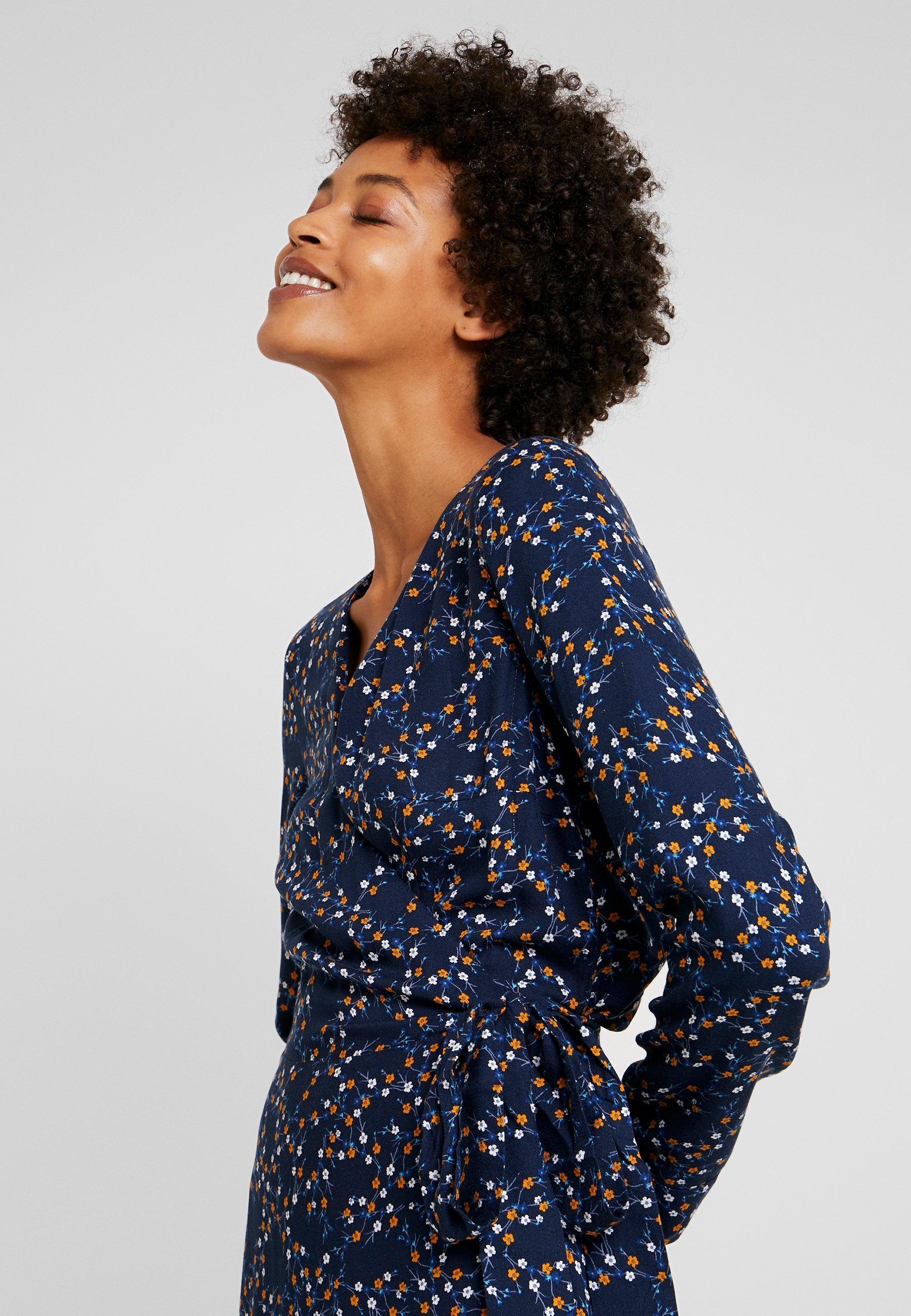 edc by Esprit WRAP DRESS - Day dress - navy