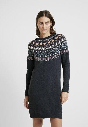 DRESS - Gebreide jurk - gunmetal