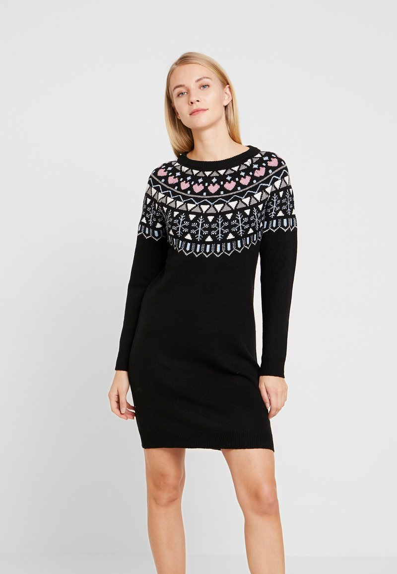edc by Esprit - DRESS - Abito in maglia - black