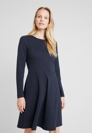 FLARED DRESS - Day dress - navy