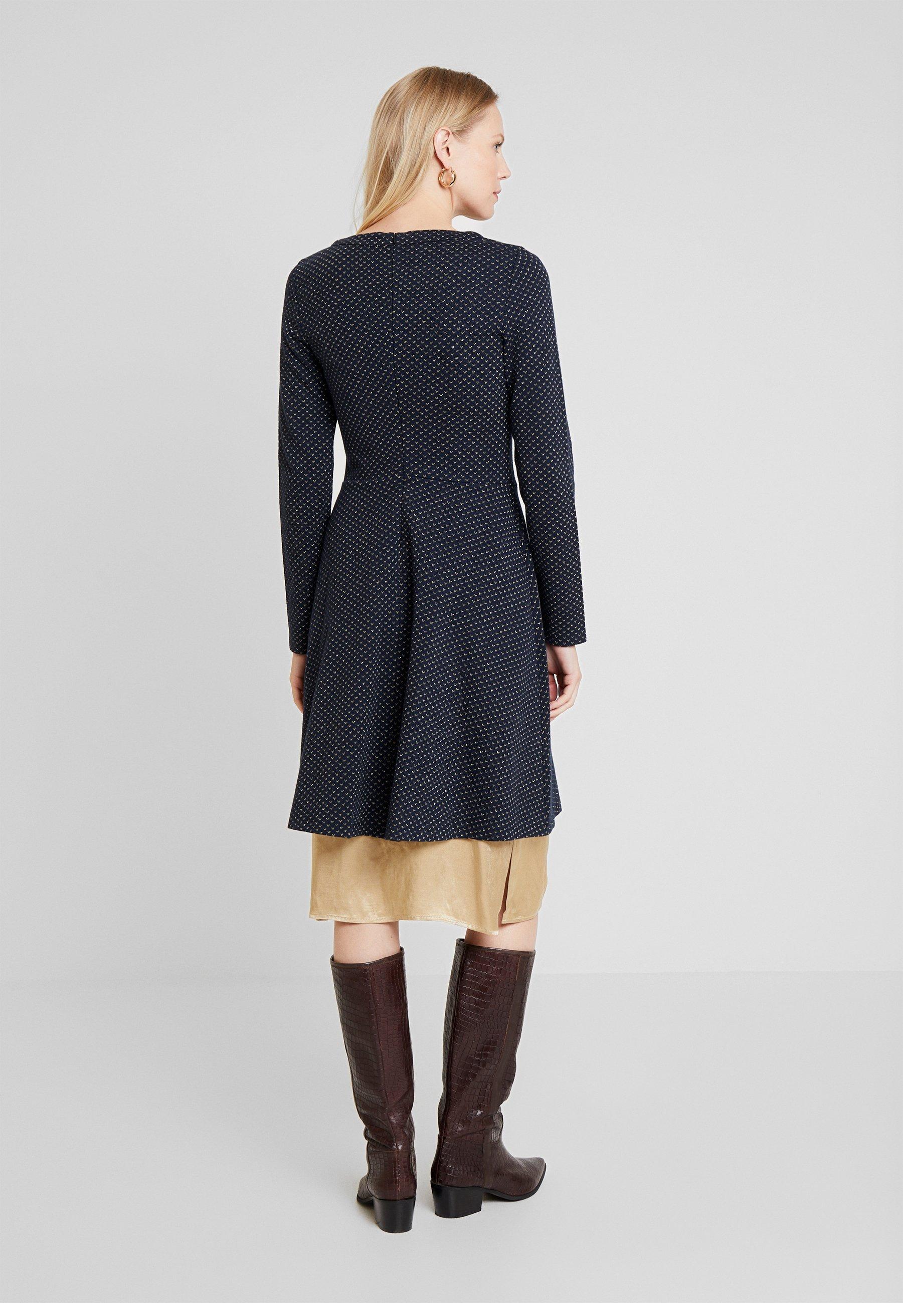 FLARED DRESS Robe pull navy