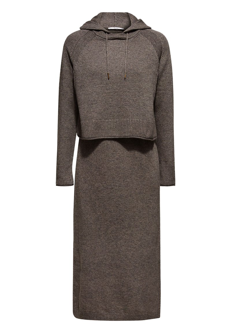 edc by Esprit - Gebreide jurk - dark grey