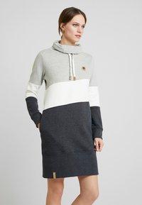 edc by Esprit - COLORBLCK DRESS - Vestido informal - light grey - 0
