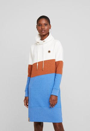 COLORBLOCK DRESS - Korte jurk - off white