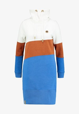 COLORBLOCK DRESS - Day dress - off white