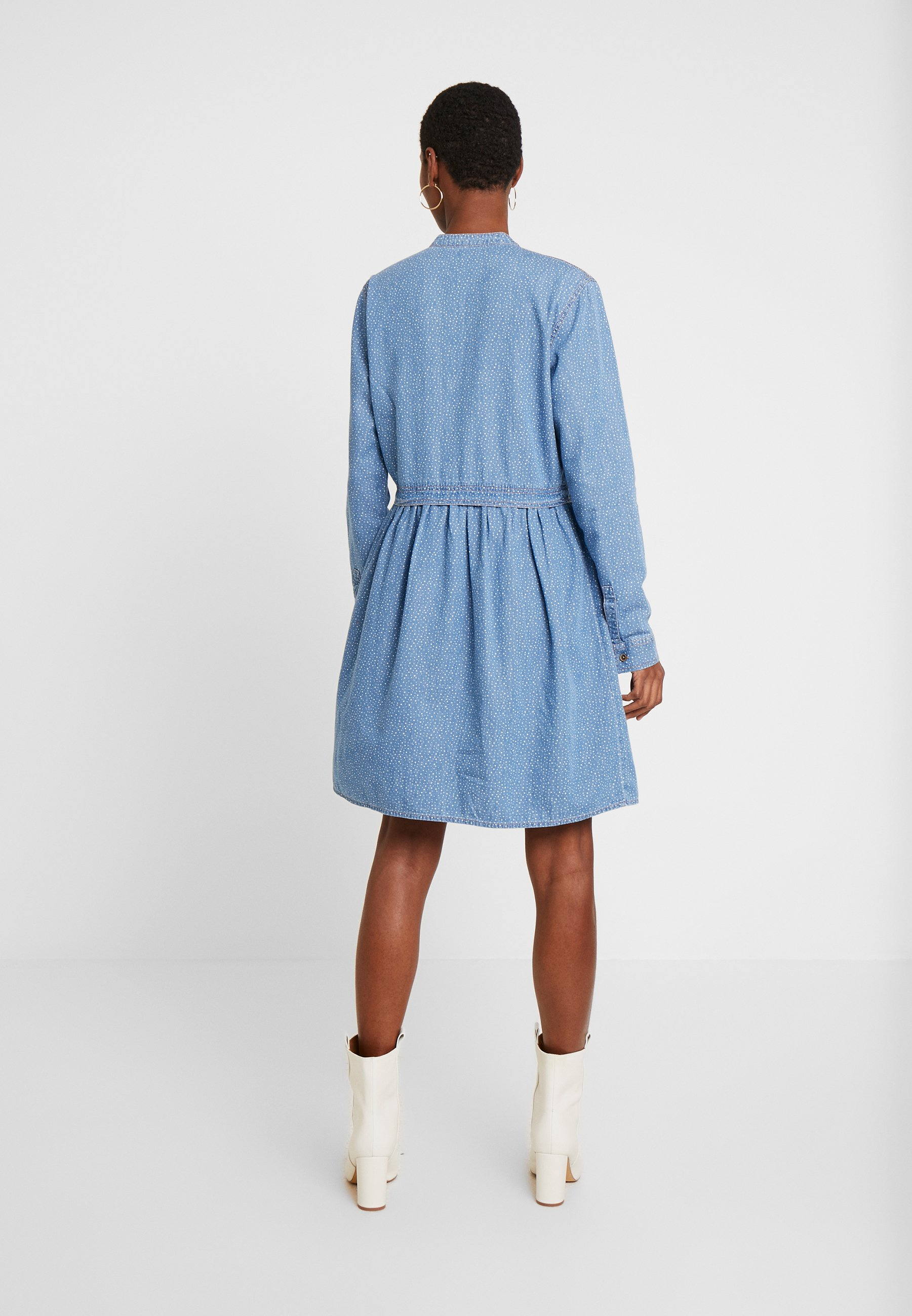 edc by Esprit DRESS - Sukienka koszulowa - blue light wash