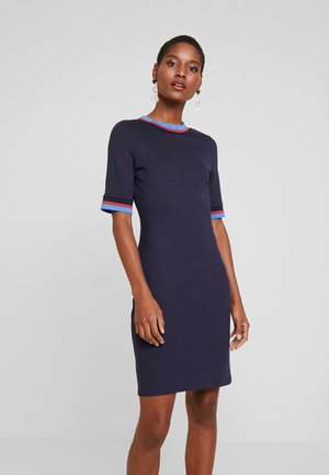 TRIM DRESS - Day dress - navy