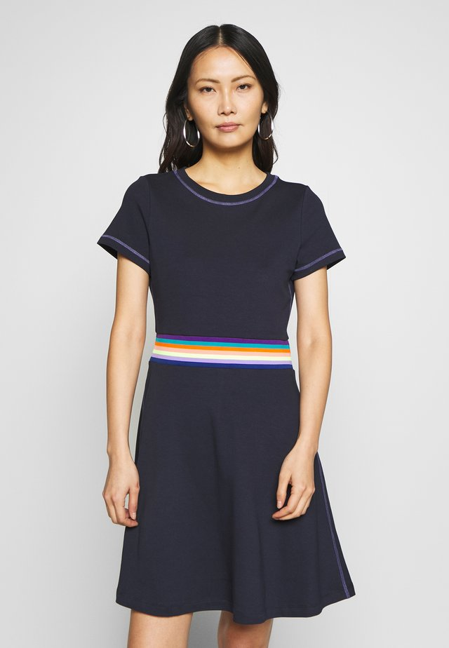 RAINBOW - Jersey dress - navy