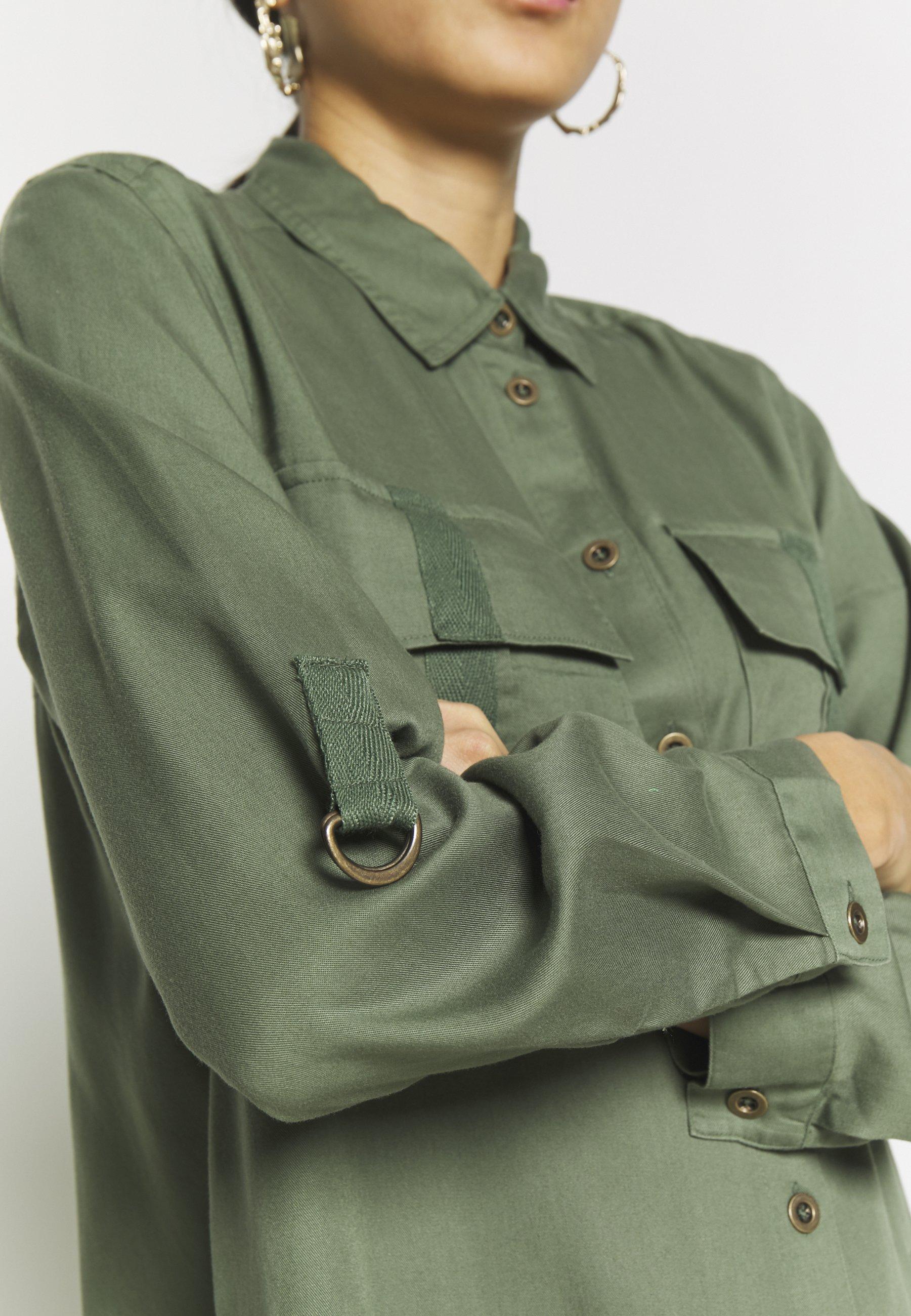 Esprit UTILITY - Sukienka koszulowa - khaki