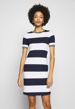 STRIPE DRESS - Sukienka letnia - navy