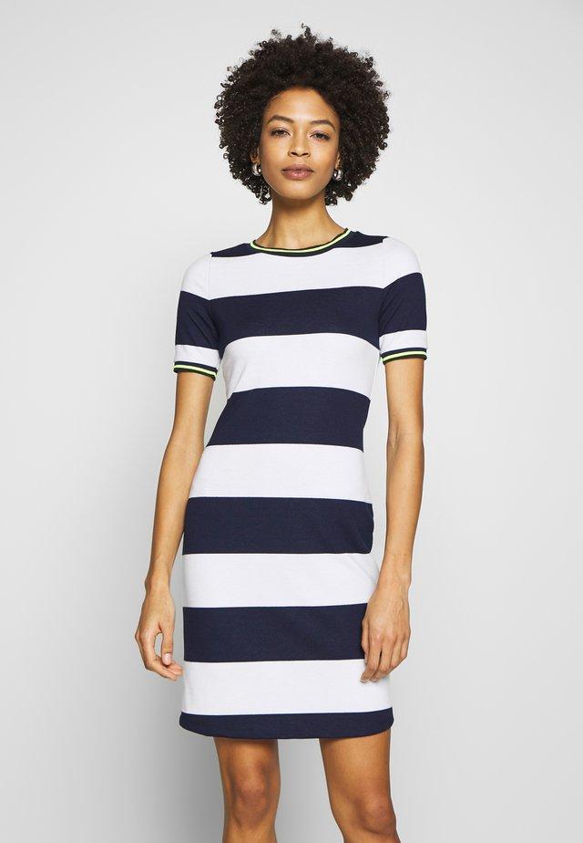 STRIPE DRESS - Day dress - navy