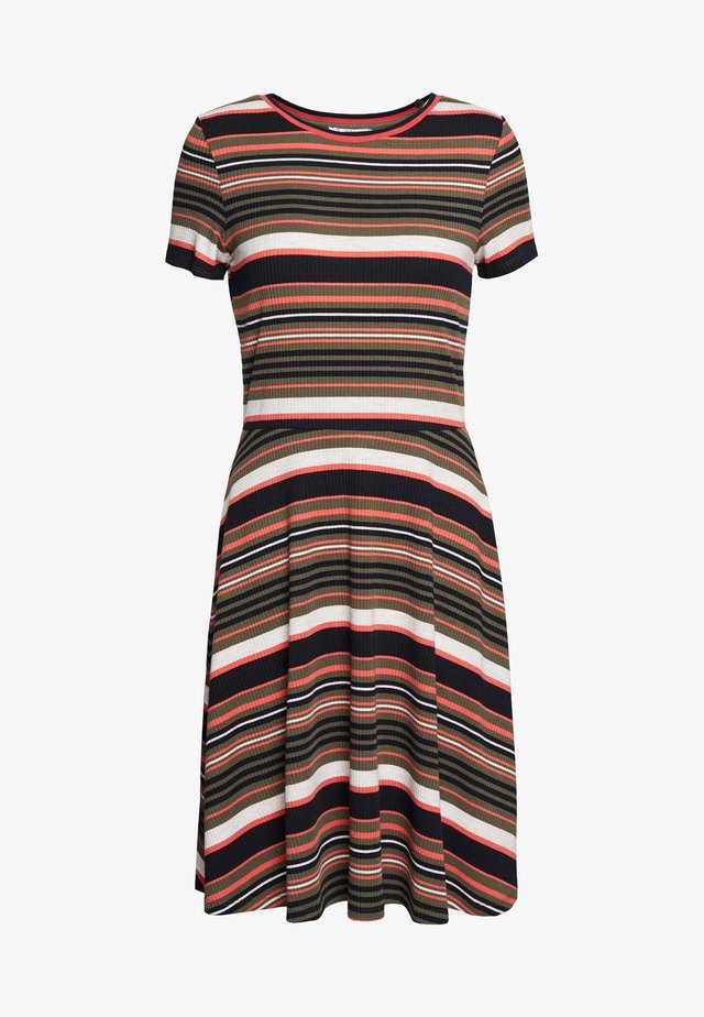 STRIPE - Jumper dress - khaki green