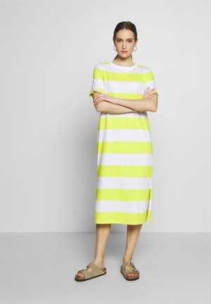COLORBLOCK DRES - Jerseykjoler - citrus green