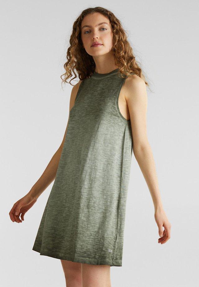 Jerseykleid - khaki green