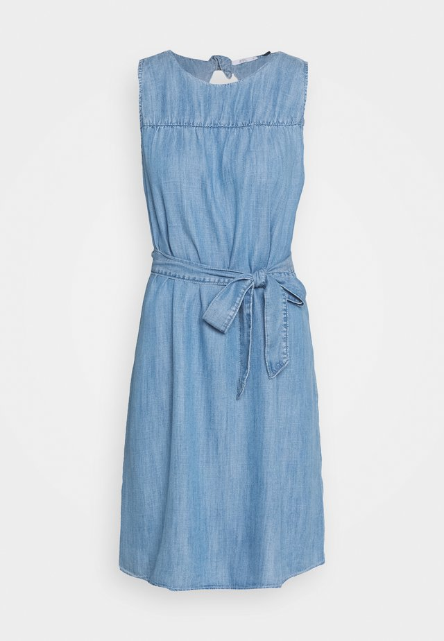 DRESS - Denim dress - blue light wash