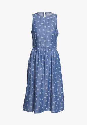 PRINT - Day dress - blue light wash