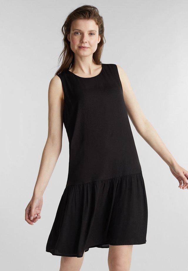 WEB VOLANT - Denní šaty - black