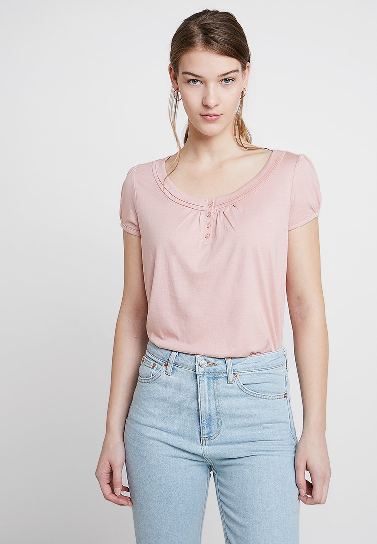 edc by Esprit - BLOUSY TEE - Print T-shirt - old pink